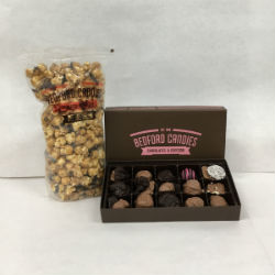 Small Popcorn and Half Pound Chocolate Gift Set-Shipping Included
