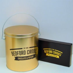 Popcorn Tin and Chocolate Gift Box Set