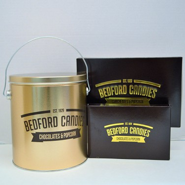 Popcorn Tin and  2 Chocolate Gift Boxes Set