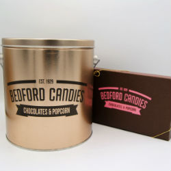 One Gallon Tin and Half Pound Chocolate Gift Set-Shipping Included