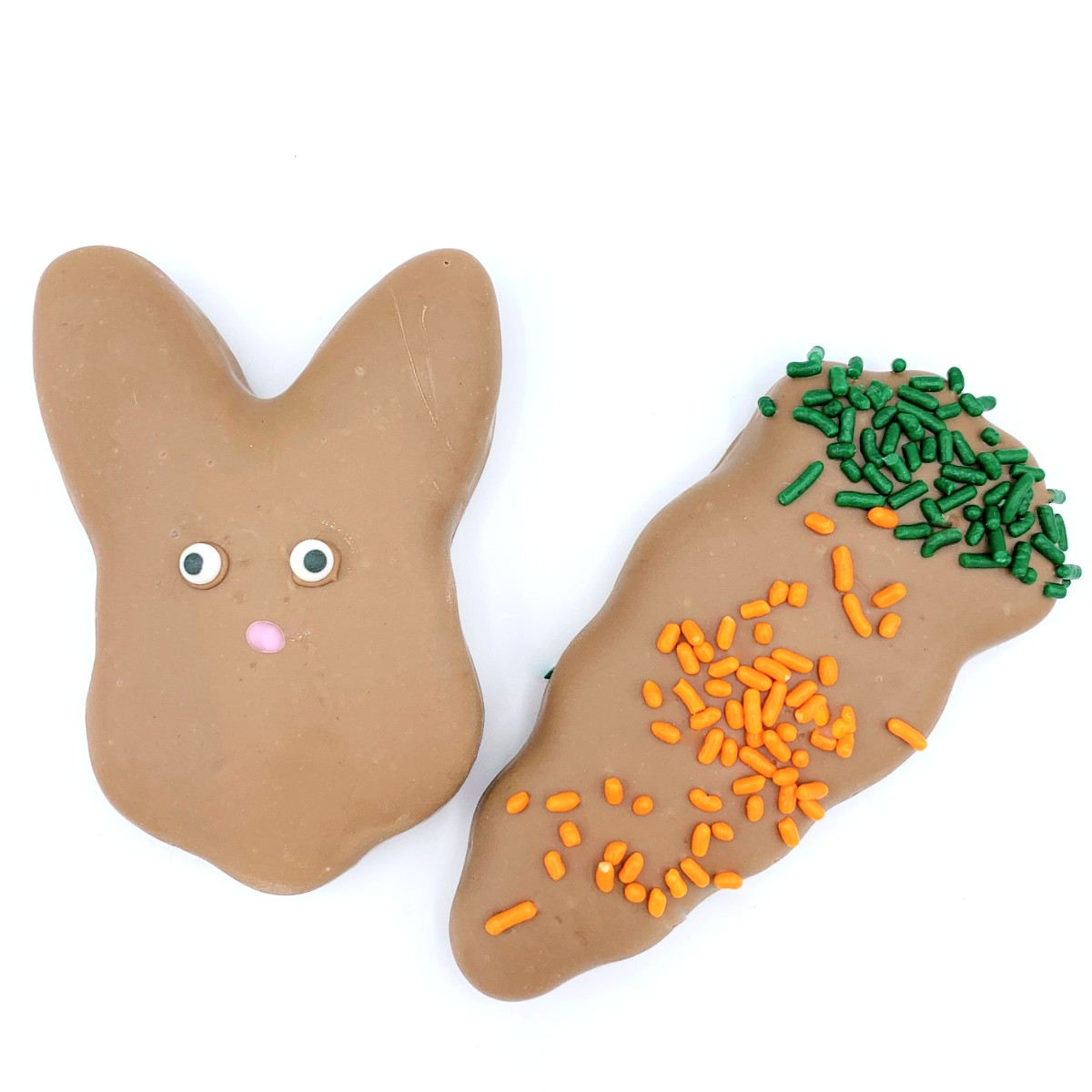 Milk Chocolate Peanut Butter Meltie Carrot and Bunny