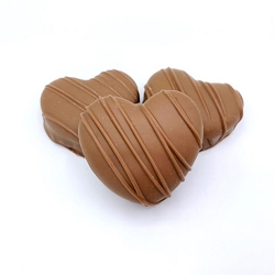 Milk Chocolate Peanut Butter Meltie Hearts - 3 Pack