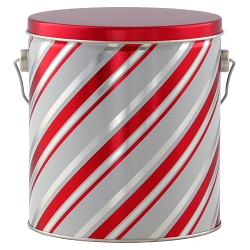 Candy Stripes Gourmet Popcorn Tin