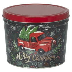 Tree Farm Truck Gourmet Popcorn Tin