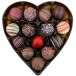 Assorted Truffles Heart Box