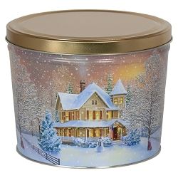 Holiday Home Gourmet Popcorn Tin