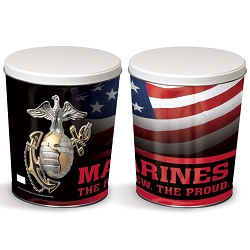 Marines Gourmet Popcorn Tin - 3 Gallon