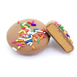 Milk Chocolate Peanut Butter Meltie Eggs with Sprinkles - 2 Pack