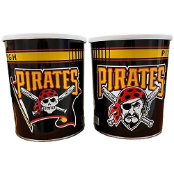 Pittsburgh Pirates Gourmet Popcorn Tin - 1 Gallon