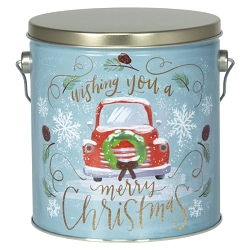 Vintage Car Gourmet Popcorn Christmas Tin - 1 Gallon