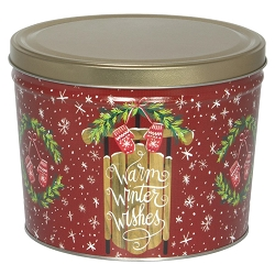 Warm Wishes Gourmet Popcorn Tin