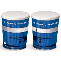 Air Force Gourmet Popcorn Tin - 3 Gallon