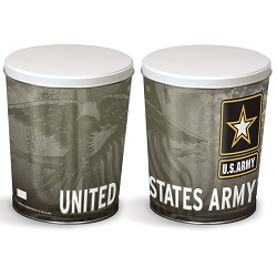 Army Gourmet Popcorn Tin - 3 Gallon