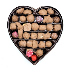 Assorted Milk Chocolate Heart Box 16oz
