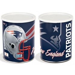 Patriots Gourmet Popcorn Tin - 1 Gallon