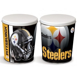 Pittsburgh Steelers Gourmet Popcorn Tin - 3 Gallon