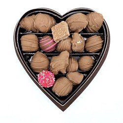 Assorted Milk Chocolate Heart Box 8oz